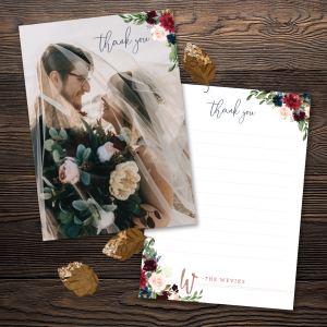 Moody Florals Thank You Cards