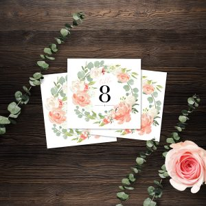 Eucalyptus Blush Table Numbers