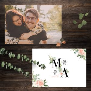 Eucalyptus Blush Save the Date