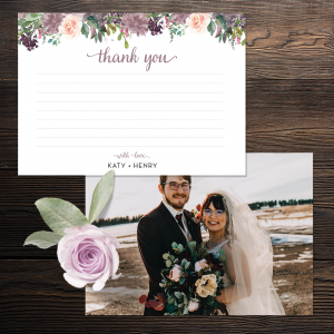 Mauve-elous Thank You Cards