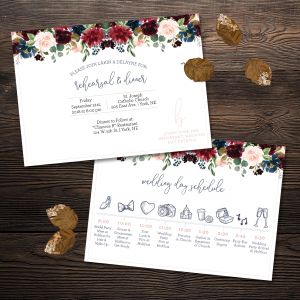 Moody Florals Rehearsal Invite