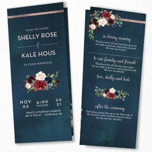 Navy and Blush Folded Programs (Catholic Compatible)