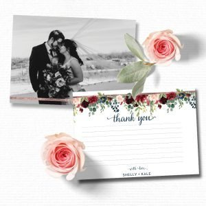 Navy and Blush Thank You Cards