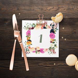 Magenta Burst Table Numbers